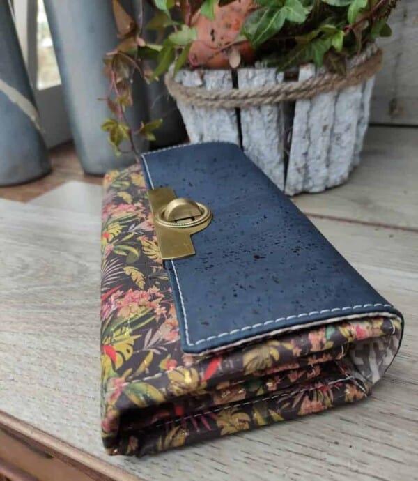 Dames portemonnee met print detail