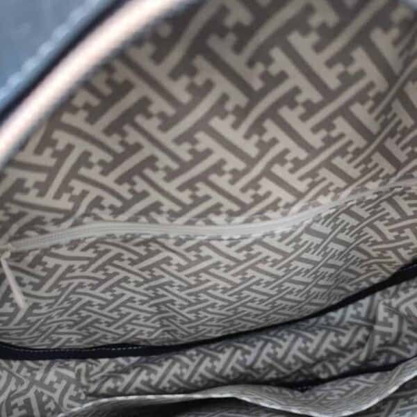 Ronde kurk tas zwart binnenkant