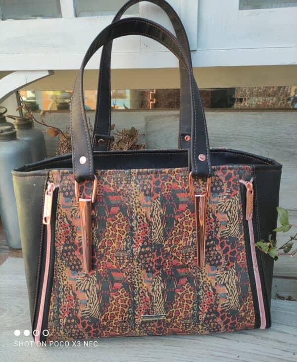 Handtas kurkleer, prachtig en uniek en maar 1 beschikbaar!