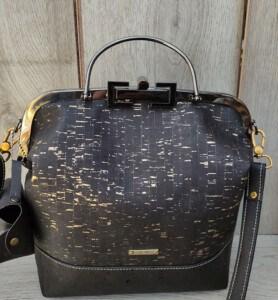 shop beugel tas zwart met goud
