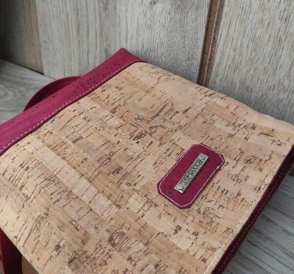 rood kurk tasje detail